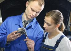 Automotive service managers are often responsible for hiring and training employees.