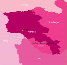 Nagorno-Karabakh is in Azerbaijan, but is located near the Armenian border and has a predominantly ethnic Armenian population.