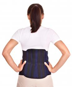 Back braces may be worn for posture and back support.