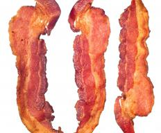 Bacon is a common component of a low-carb diet, and it's relatively low in calories as well.