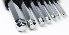 Allen wrenches, which are used with hex head nylon screws.