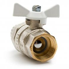 A ball valve utilizes the flange shape.