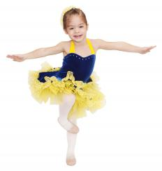 Young dancers may go through a new pair of slippers every month as their feet grow.