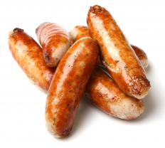 Bangers are used in a traditional toad in a hole receipe.