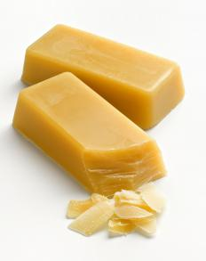 Beeswax hair wax helps hold hair in place.