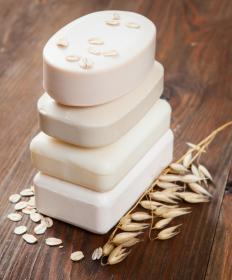 Oatmeal soap helps heal dry skin.