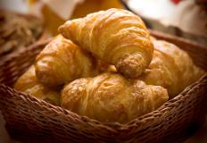 Croissants are often made with a French grooved rolling pin.
