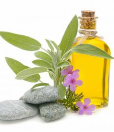 Bath oil can be used in the place of soap and water to maintain moisture in the hands.