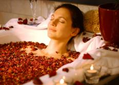 Floral scents, like roses, can be used for aromatherapy purposes.