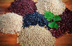 Insoluble fiber from whole grains and beans help clean the digestive tract.