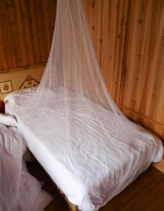 Mosquito nets create an impenetrable barrier between humans and mosquitoes.