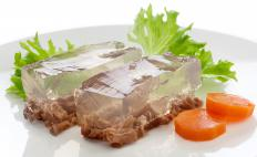 Beef may be featured in aspic.