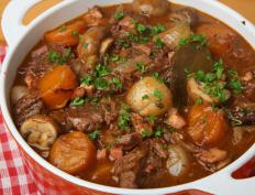 An example of braised food includes beef stew.