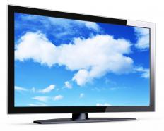 OLEDs can be used in flat screen televisions.