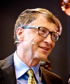 Microsoft founder Bill Gates started a foundation supporting education and health care.