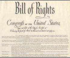 The US Bill of Rights includes the first ten amendments to the Constitution.