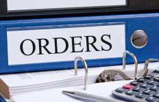 Purchase orders can authorize a one-time purchase or series of purchases.