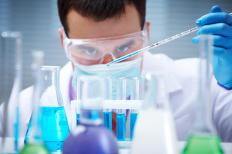 Pharmaceutical companies conduct laboratory research on new drugs.