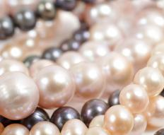 Pearls come in various colors including cream, pink, and black.