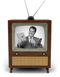 Color TV became common in the 1960's, eventually replacing black and white television sets.