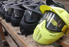 Face masks should be worn as protection during the game of paintball.