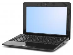 A wireless notebook computer.