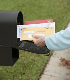 Petitions are often mailed to people to help spread information.