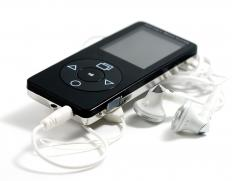 An MP3 player with audio files.