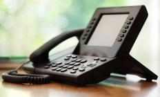 Digital speaker phones may be used for conference calls.