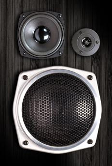 In a 2-way speaker, the high frequencies, also called treble, are paired with a speaker known as a woofer that reproduces low end or bass frequencies.