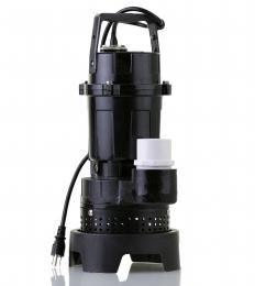A sump pump uses a float switch that turns on the device when water rises to a certain level.