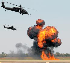 Most air gunner personnel work in helicopters.