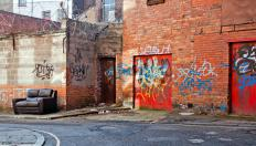 Graffiti tags are often meant to display possession of certain neighborhoods by a gang.