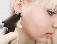 It is easy and common to have one's earlobe pierced.