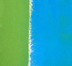 Blue, a primary color, and green, a secondary color.