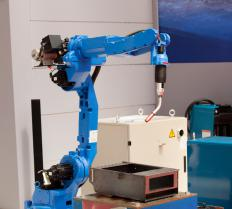 A robotic simulation can test possible components of a robotic arm without physically installing them.
