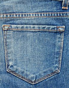Denim can be purchased in a variety of color shades.