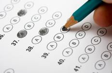 The LSAT exam includes five sections that are multiple choice.