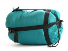 Campers often put sleeping bags on top of inflatable mattresses for more comfortable sleeping arrangements.