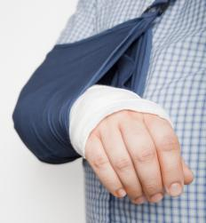 A sling may be used to immobilize the painful, injured body part.