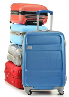 Rolling luggage is ideal for travel.