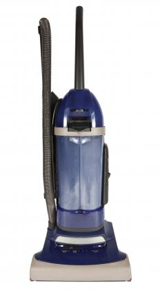 An upright vacuum cleaner.