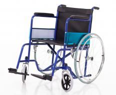 A travel wheelchair is typically lightweight and easy to fold-up for storing while traveling.