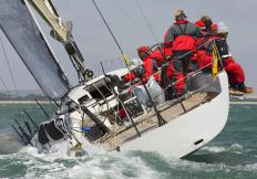 A lazy jack may help reduce the number of crewmates required to secure a sail aboard a vessel.