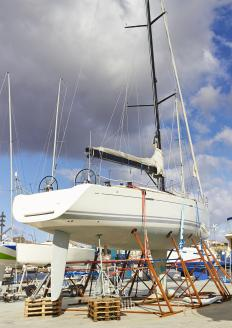 Boats that enter into a sailing competition usually cannot have an auxiliary engine.