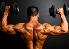 Arnold presses are a variation of the military press, which strengthens the shoulders and triceps.