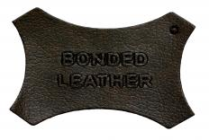 Bonded leather, which is sometimes used to make travel bags.
