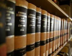 Law books.