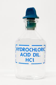 Hydrochloric acid is formed when hydrogen chloride is dissolved in water.