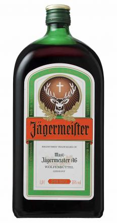 Bottle of Jagermeister, a type of liqueur.